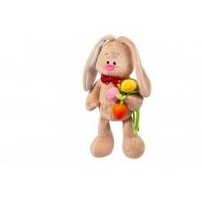 Зайка кроха с тюльпанами