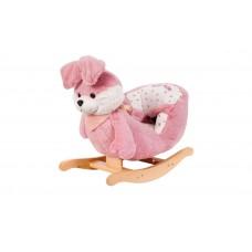 Кресло-качалка зайка розовый