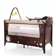 Манеж-кровать коричневый