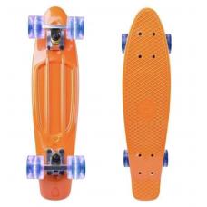 Пенни борд со светом(оранжевый, фиолетовый)